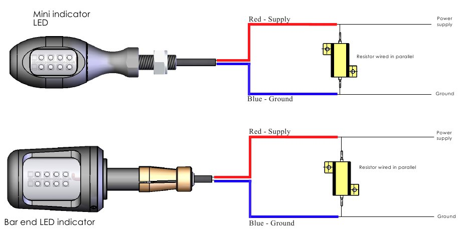 Motorcycle Led Turn Signal Wiring Diagram from www.fastbikegear.co.nz